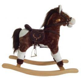 Alltoys Houpací kůň závodní - hnědobílý se zvukem