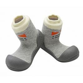 Attipas dětské botičky Tie Gray 19 šedá