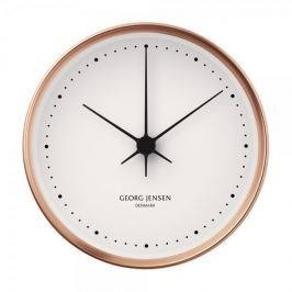 Georg Jensen Nástěnné hodiny HK velké, měď/bílá, 22 cm