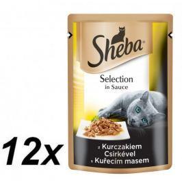 Sheba Kapsička SELECTION in Sauce s kuřecím 12 x 85g
