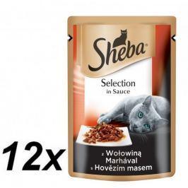 Sheba Kapsička SELECTION in Sauce s hovězím 12 x 85g