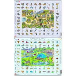 LARSEN Hodina angličtiny puzzle 2 MAXI