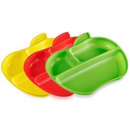 Munchkin Set barevných dělených talířů ve tvaru jablka 3ks
