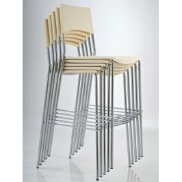 BHM Germany Barová židle Manila (SET 2 ks), krémová