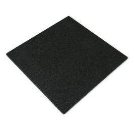 Černá gumová dlaždice - 50 x 50 x 2,5 cm