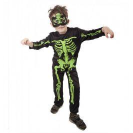 Rappa Karnevalový kostým kostlivec NEON, dětský vel. S