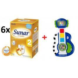 Sunar kojenecké mléko Complex 2 - 6 x 600g + Kytara BRIGHT STARTS