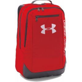 Under Armour Hustle Backpack LDWR Red Graphite Silver Osfa