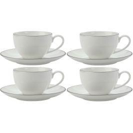 Maxwell & Williams Espresso šálek a podšálek 100 ml White Basics Edge, 4 ks