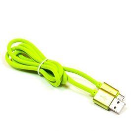 EXTREME STYLE Univerzální silkonový kabel USB - micro USB, zelený, 100 cm