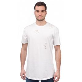 Brave Soul pánské tričko s dírami Benji L bílá
