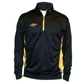 Umbro Mikina Adnan 1/2 ZIP Jr Black/yellow S