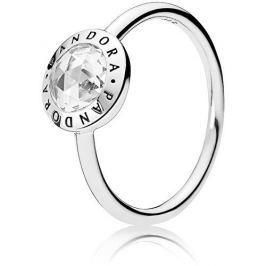 Pandora Stříbrný prsten s kamínkem 191029CZ (Obvod 54 mm) stříbro 925/1000