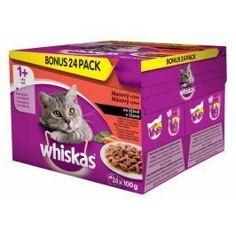 Whiskas Masový výběr se zeleninou BONUS 24pack