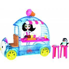 Mattel Enchantimals Zmrzlinový vozík s tučňákem