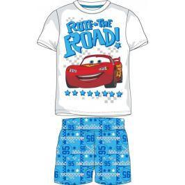 E plus M chlapecké pyžamo Cars 122 bílá/modrá