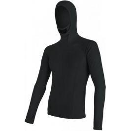 Sensor Double Face Merino Wool pánské triko dl.ruk. s kapucí Černá S
