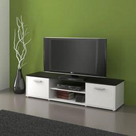 Televizní stolek ZU01, černá/bílá