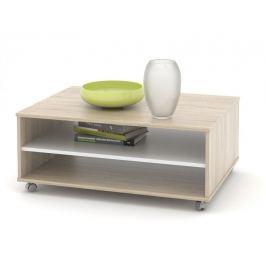 Konferenční stolek ZU05, dub sonoma/bílá