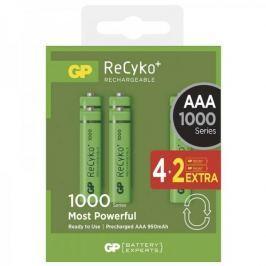 GP ReCyko+ 1000 series AAA, nabíjecí, 950 mAh, 4+2 ks