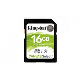 Kingston SDHC 16GB Canvas Select 80R Class 10 UHS-I (SDS/16GB)