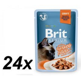 Brit Premium Cat Delicate Fillets in Gravy with Turkey 24 X 85 g