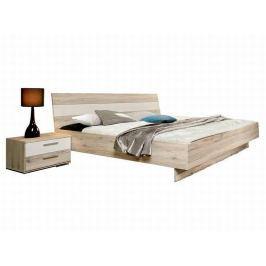 VALERIE, postel VALL18 180x200 cm, dub pískový/bílá