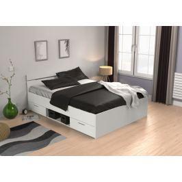 MACHIGAN, postel 140x200 cm, bílá