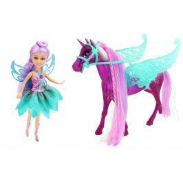 Alltoys Sparkle Girlz - Magický svítící jednorožec s vílou