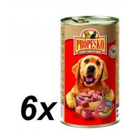 Propesko kousky pes zvěřina+drůbeží 6 x 1240g