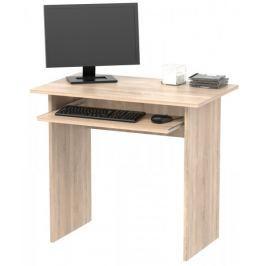 Jednoduchý  PC stůl TWIST, dub sonoma