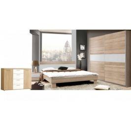 GOLDSTAR, ložnice komplet, dub sonoma/bílá