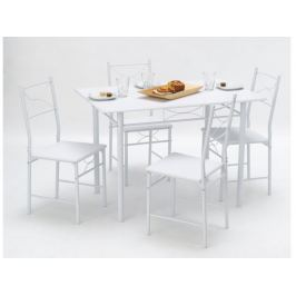 WITNEY, jídelní set 1+4, bílá