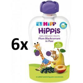 HiPP BIO 100% ovoce Hruška-Černý rybíz-Švestka 6 x 100 g