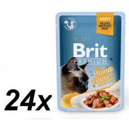 Brit Premium Cat Delicate Fillets in Gravy with Tuna 24 X 85 g
