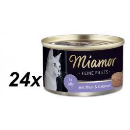 Finnern Konzerva Miamor Feine Filets tuňák+kalamáry v želé 24 x 100g