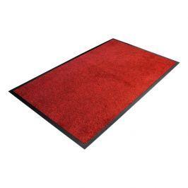 Červená textilní čistící vnitřní vstupní rohož - 85 x 60 x 0,9 cm