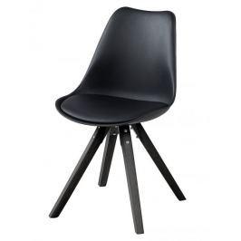 Design Scandinavia Jídelní židle Damian (SET 2 ks), černá