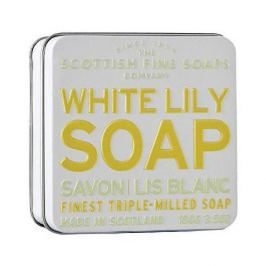 Scottish Fine Soap Květinové mýdlo v plechu Bílá lilie 100 g
