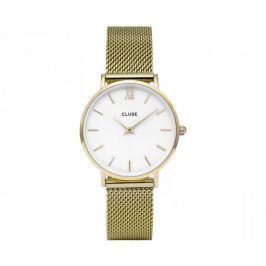 Cluse MinuitMesh Gold/White CL30010