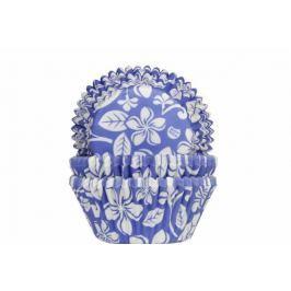 House of Marie Košíček na muffiny Aloha květiny modrý 50ks