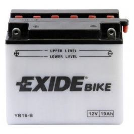 Exide baterie  EB16-B, 12V 19Ah, za sucha nabitá s antisulfační úpravou. Náplň součástí balení.