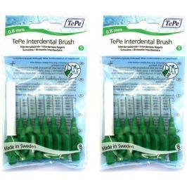 Tepe mezizubní kartáčky 0,8 mm zelené 2 x 8 ks
