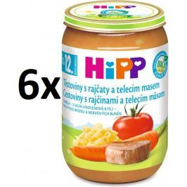 HiPP Těstoviny s rajčaty a telecím masem - 6x220g