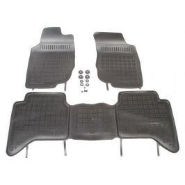 REZAW-PLAST Gumové koberce, sada 3 ks (2x přední, 1x spojený zadní), Toyota Hilux VII 2005-2015 (4 dveře)