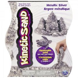 Kinetic Sand Kouzelný metalický písek stříbrný 454 g