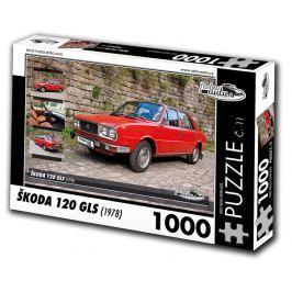 RETRO-AUTA© Puzzle č. 11 - ŠKODA 120 GLS (1978) 1000 dílků