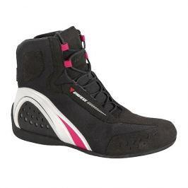 Dainese kotníkové dámské boty MOTORSHOE LADY D-WP JB vel.37 černá/bílá/růžová