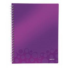 Blok organizační Leitz WOW A4  čtverečkovaný purpurový