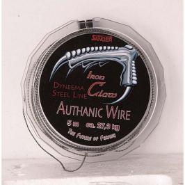 Iron Claw návazcová šnůra  Authanic Wire 10 m Grey 17 kg, 0,45 mm